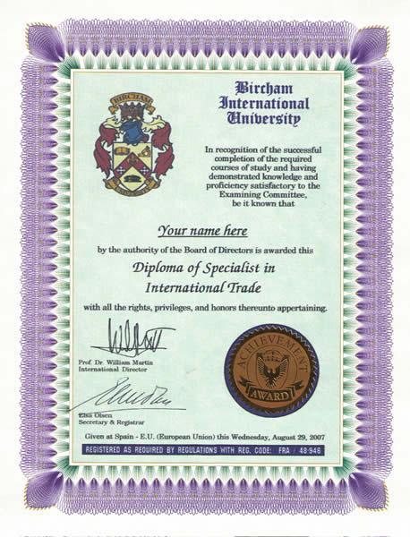 Ejemplo Diploma Especialista de BIU