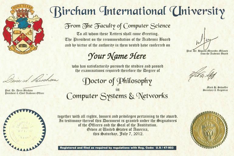 Ejemplo de Diploma Doctorado BIU